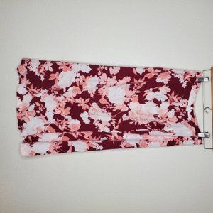 Skirts - Chelsea 28 Pink Floral Button Up Midi Skirt